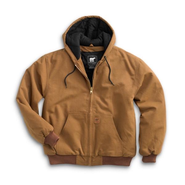 Cotton Duck Hooded Jacket Heavyweight Heavy-Duty Work Coat