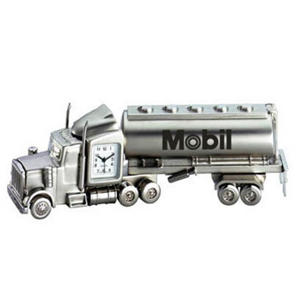 Metal Oil Tanker Truck Clock