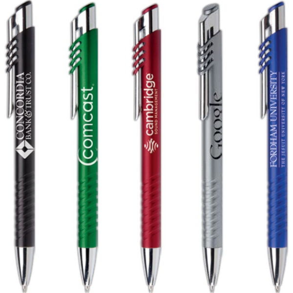 University of Wyoming-Chrome Accented Twist Action Ballpoint Pen