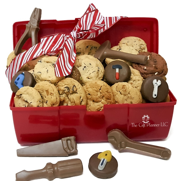 cookie and chocolate construction tool box