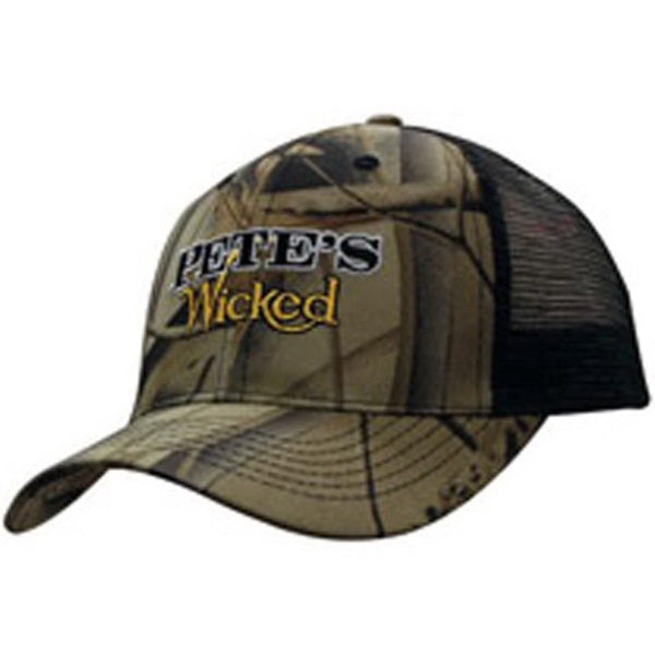 Breast Cancer Awareness Flag-1 Adult Mesh Cap Adjustable Trucker Hat Orange