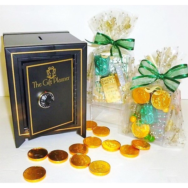 The Gourmet Chocolate Financial Themed Money Safe Gift