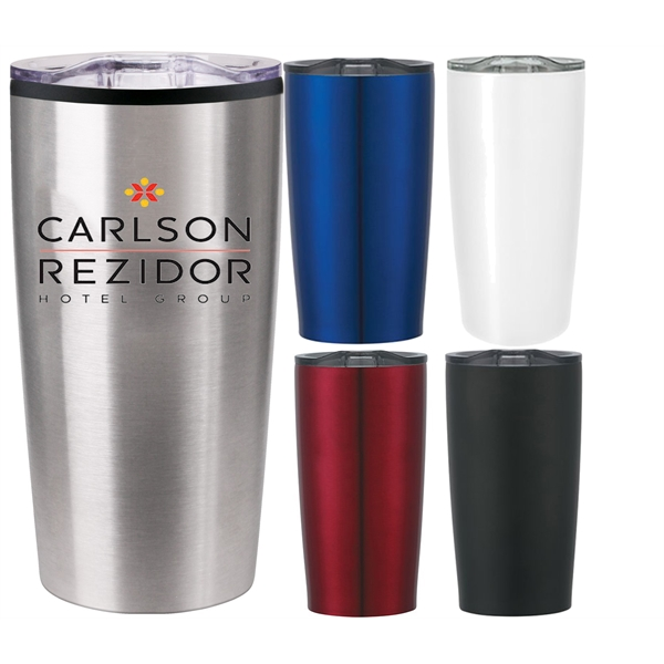20 oz Vacuum Sealed Steel Tumbler Insulated Coffee Cup Travel Mug W// Slider