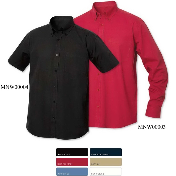 Clique Mens Long-Sleeve Carter Stain Resistant Twill Shirt