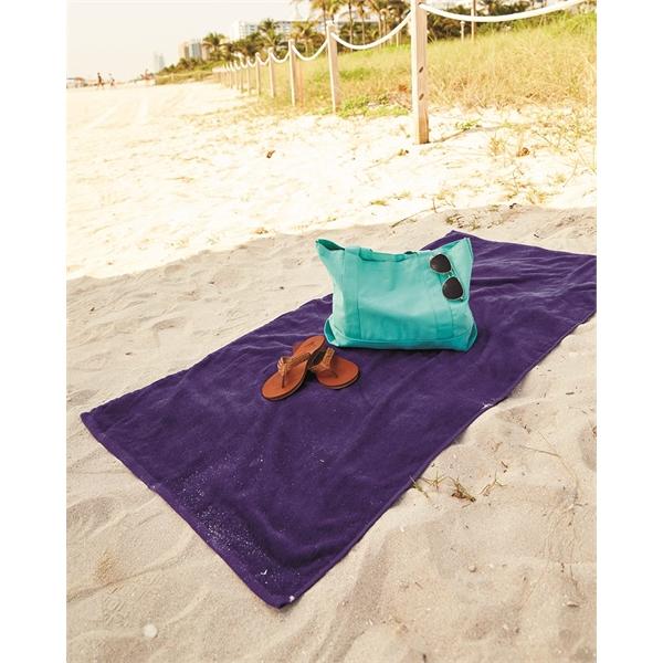 "CARMEL Company ANIMAL PRINT VELOUR BEACH TOWEL 30/"" x 60/"" ZEBRA GIRAFFE LEOPARD"