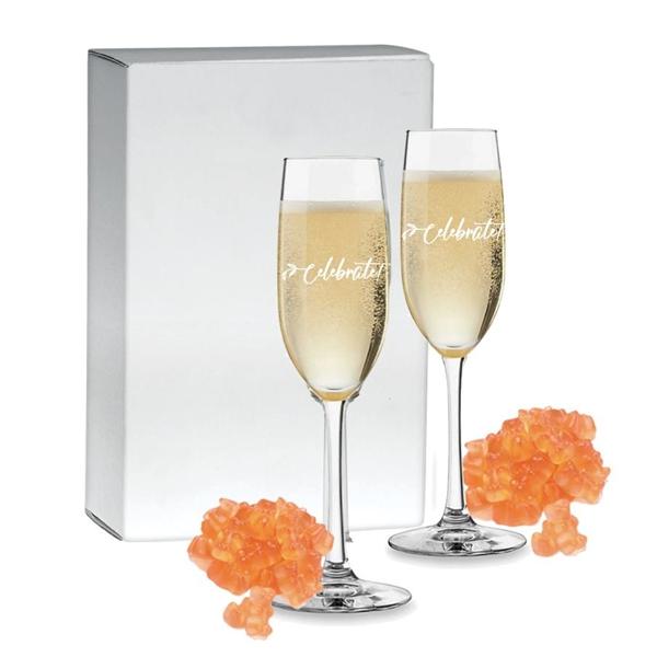 Champagne Flutes Gift Set