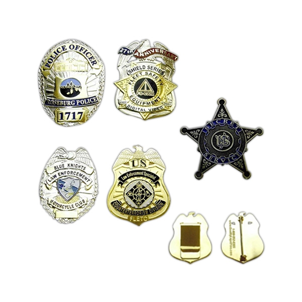 Die struck soft enamel Law Enforcement badges