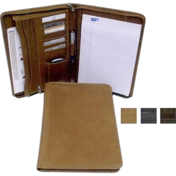 Zippered Legal-Size Notepad