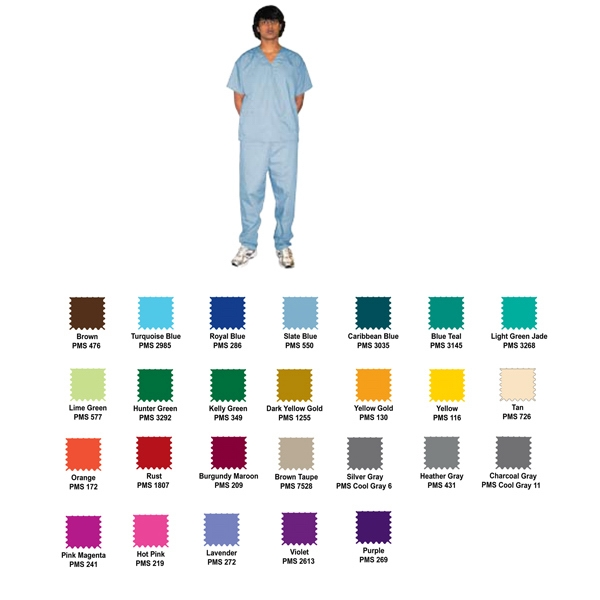 Unisex Scrub Set, Premium Colors
