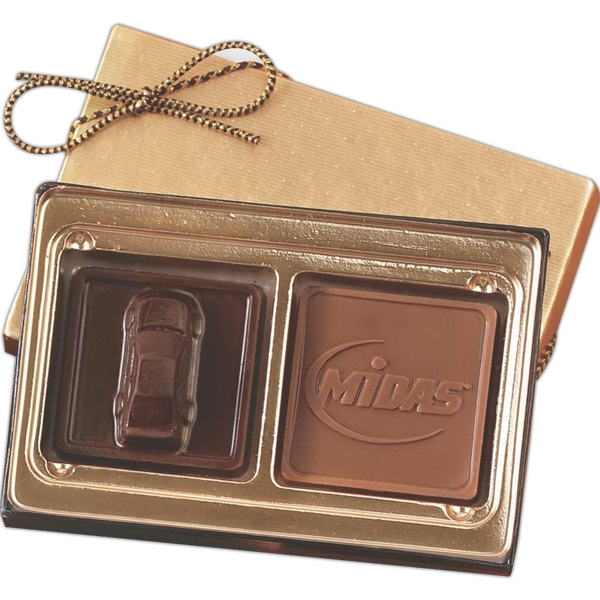 Custom Molded Chocolate Squares Gift Box