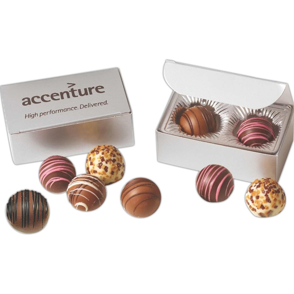 Flavor Filled Truffles in Digital Imprinted Gift Box