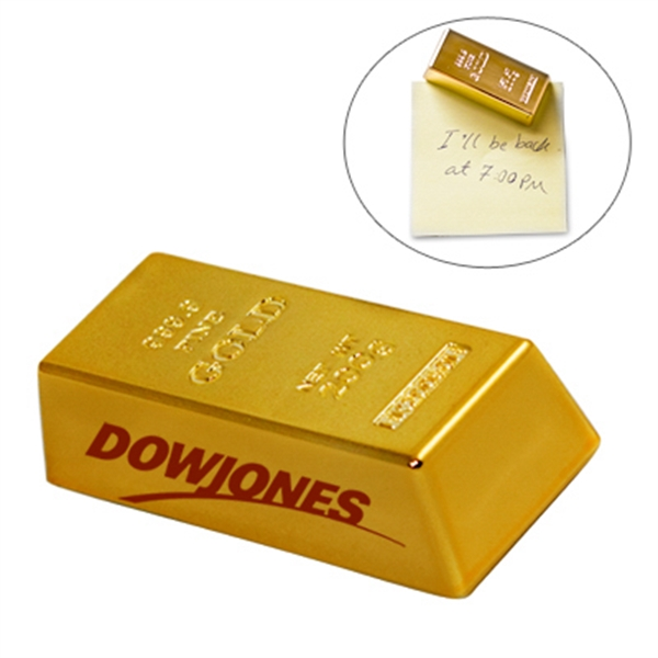 Mini gold bar paperweight / magnet