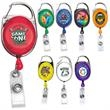 Black Pack of 5 Staffs Matte Badge Reel with Belt Clip and Key Ring for Company Office Employees TSJ Retractable ID Badge Holders Alligator Clip